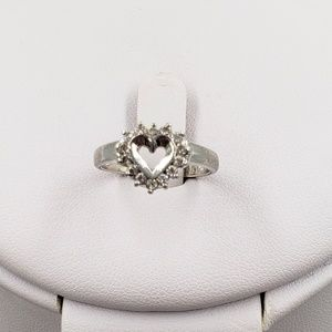 Jewelry - Simulated Diamond Heart Sterling Silver Ring